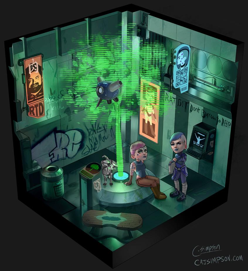 cyberpunkcourtyard