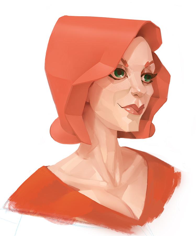 Pretty Planar Redhead